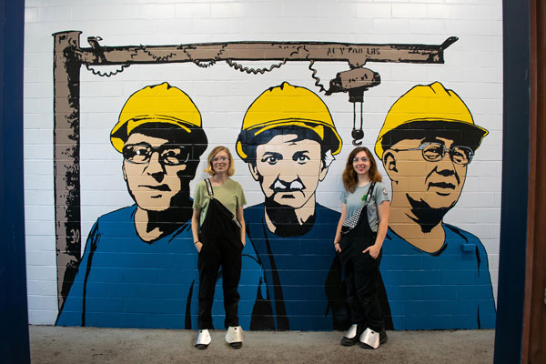 New mural by drawing/painting students honors workers at Dunkirk steel plant